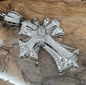 Diamond cross with chain