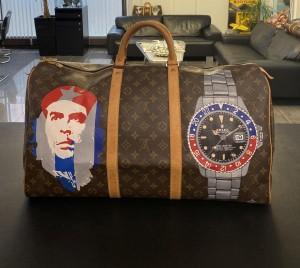 """Louis Vuitton Keepall 55 """"Che Guevara - GMT-Master"""" travel bag"""