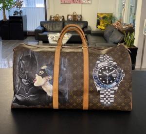"""Louis Vuitton Keepall 60 """"Batgirl"""" Reisetasche"""