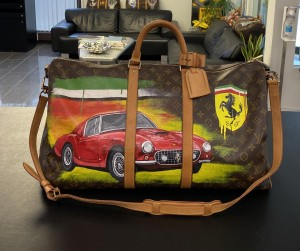 "Louis Vuitton Keepall 55 with shoulder strap ""Ferrari"" Travel Bag"