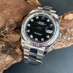 Rolex Datejust 41mm Diamant-Blatt FULL SET Ref. 126334