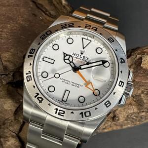 "Rolex Oyster Perpetual Explorer II ""Orange Hand"" FULL SET LC100 Ref. 216570"