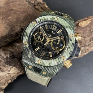 Hublot Big Bang Unico 45mm Italia Green Camo FULL SET Ref. 411.YG.1198.NR.ITI16