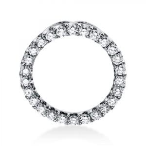 "Pendant ""Circle"" 18 ct white gold and 26 brilliants ca. 1,27 ct"