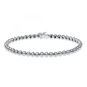 Bracelet 18 ct white gold with 47 brilliants ca. 0,64 ct