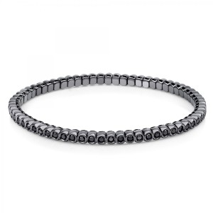 Bracelet 18 ct white gold with 65 brilliants ca. 1,45 ct