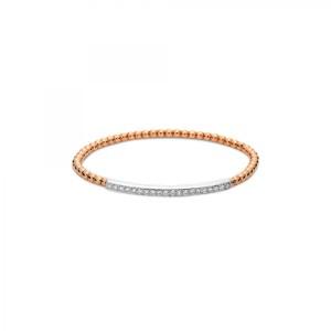 Armband 18 kt Rot-/Weißgold mit 20 Brillanten ca. 0,61 ct