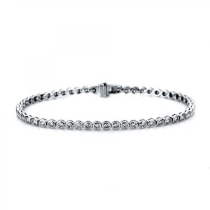 Bracelet 18 ct white gold with 53 brilliants ca. 2,07 ct