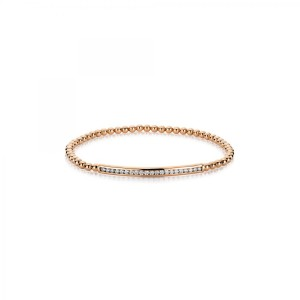 Bracelet 18 ct rose gold with 21 brilliants ca. 0,41 ct