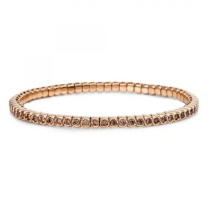 Bracelet 18 ct red gold with 65 brilliants ca. 1,49 ct