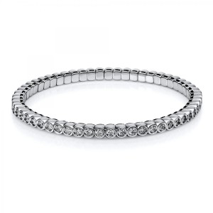 Bracelet 18 ct white gold with 57 brilliants ca. 2,15 ct
