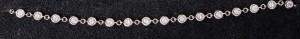 Armband Zarge 18 kt Weißgold mit 24 Brillanten 1,33 ct