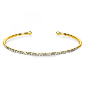 Bangle 18 ct yellow gold with 36 brilliants ca. 0,80 ct