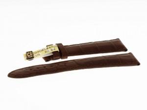 Chronoswiss Lederarmband Armband Krokoleder dunkelbraun 20x18mm