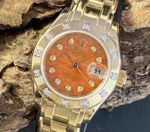 Rolex Datejust Pearlmaster Koralle Dia Blatt LC100 Ref. 80318