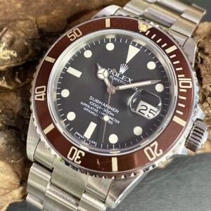 Rolex Submariner Date Vintage - Tropical - Box Papiere Ref. 16800