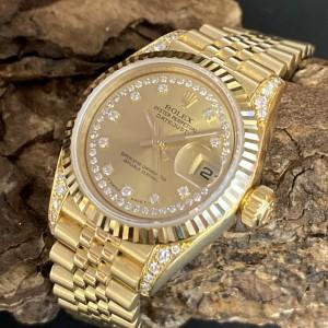 Rolex Oyster Perpetual Datejust Lady mit Rolex Diamantbesatz Ref. 79238