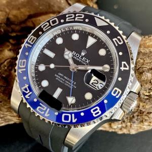 """Rolex GMT-Master II """"BATMAN"""" an Kautschukband Ref. 126710BLNR"""