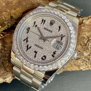 Rolex Oyster Perpetual Datejust 41 mit Diamanten Ref. 126334