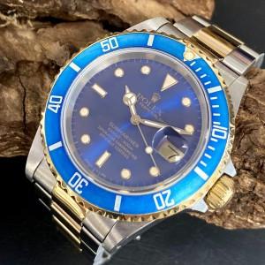 Rolex Submariner Date  - FULL SET - Blau Ref. 16613
