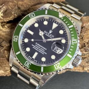 """Rolex Submariner Date """"Kermit"""" - Fat Four -Mark I - Fullset - LC100 Ref. 16610LV"""