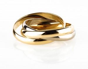 Ring Trinity 14kt Weißgold und Gelbgold