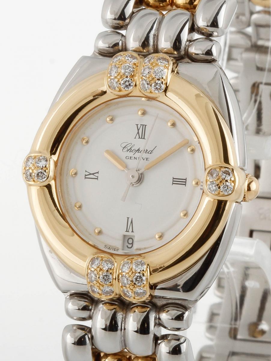 Chopard Gstaad Lady mit Diamanten Quarz 18kt Gelbgold/Stahl Ref. GD9614