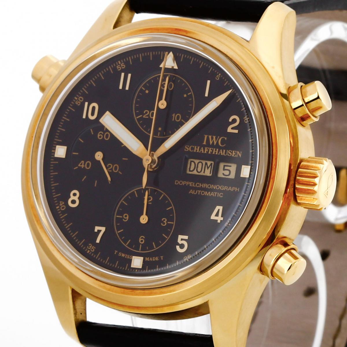 IWC Doppelchronograph Gelbgold Ref.IW3711