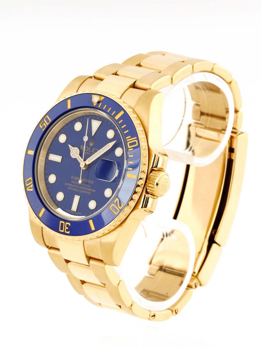 Rolex Gold Blaues Zifferblatt