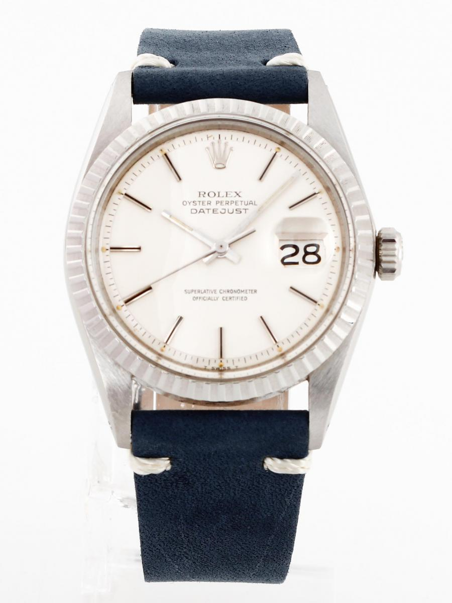 Rolex Oyster Perpetual Datejust steel with leather strap ...