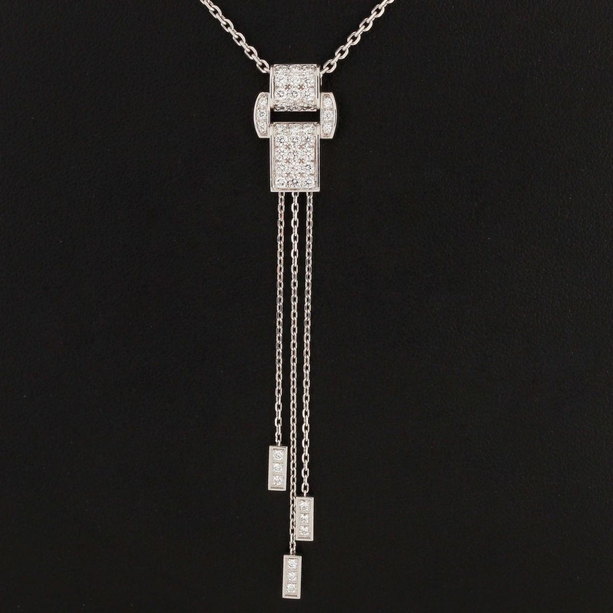 PIAGET Miss Protocole Weißgold Kette mit Diamant-Anhänger Neu (2017)