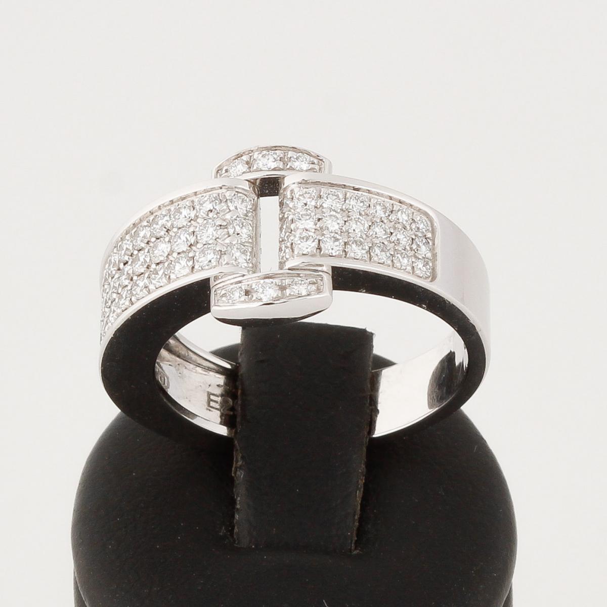 PIAGET Miss Protocole Ring Weißgold Schnallendesign mit Diamanten besetzt Neu (2017)