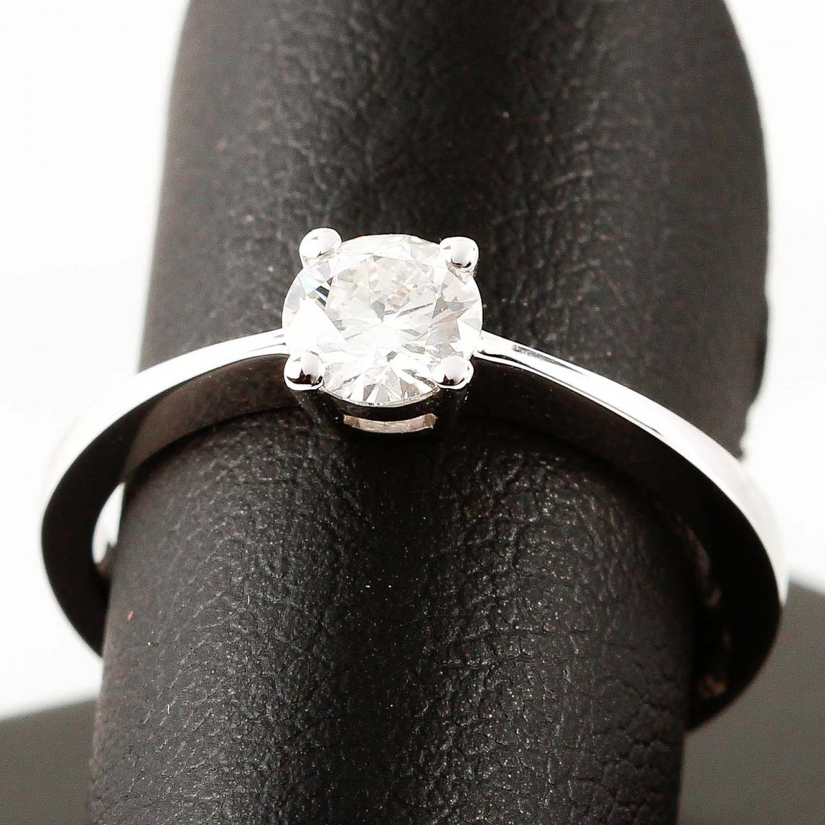 Ring Solitär white gold with brilliant