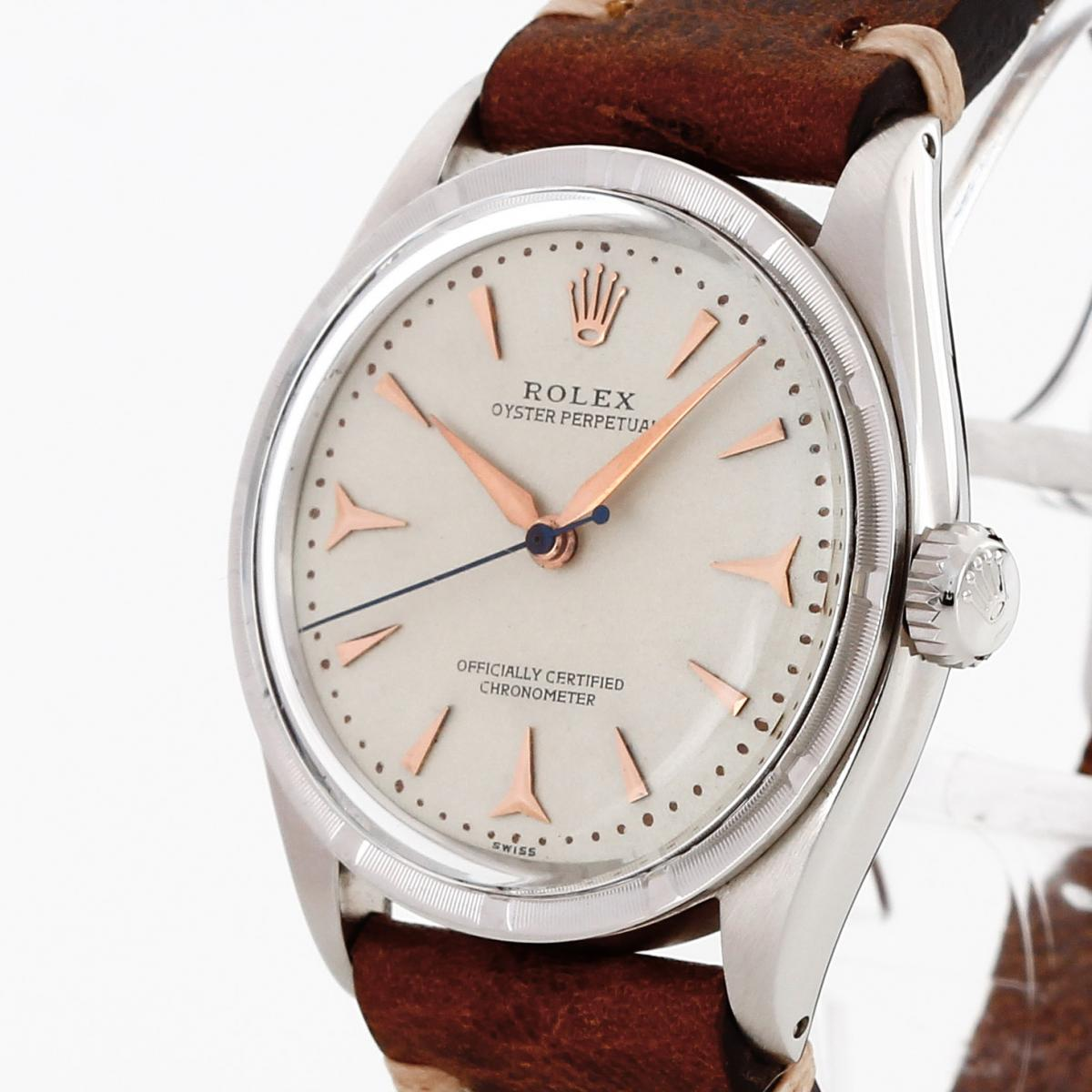 Rolex Oyster Perpetual an Lederband Ref. 6569