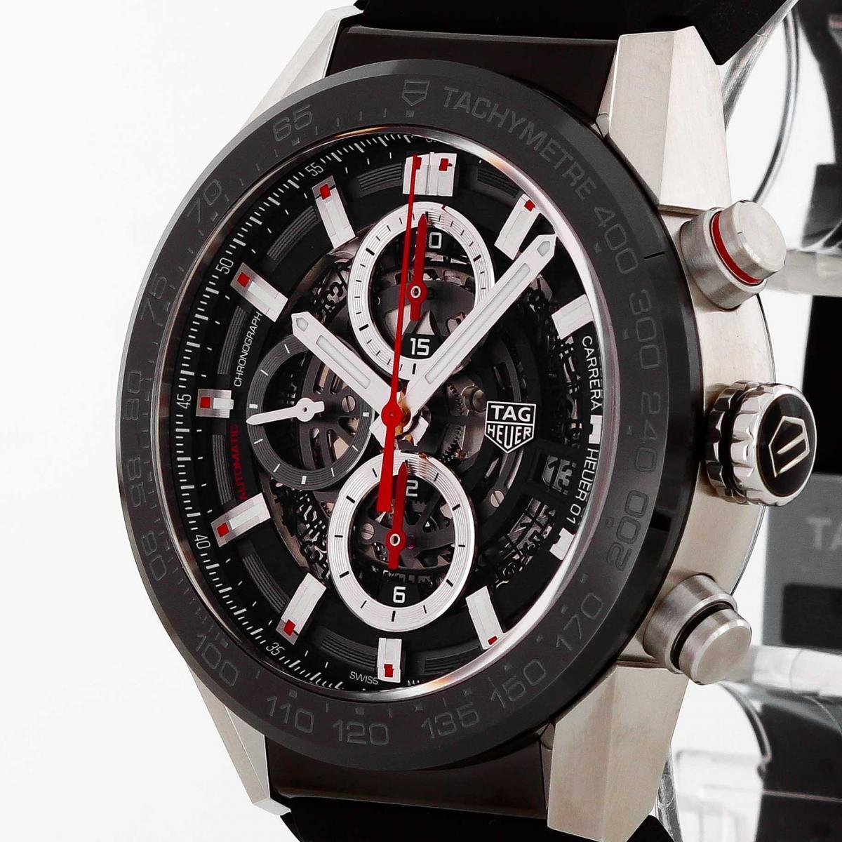 TAG Heuer Carrera Chronograph Calibre Heuer 01 Edelstahl an Kautschuk CAR201V.FT6046