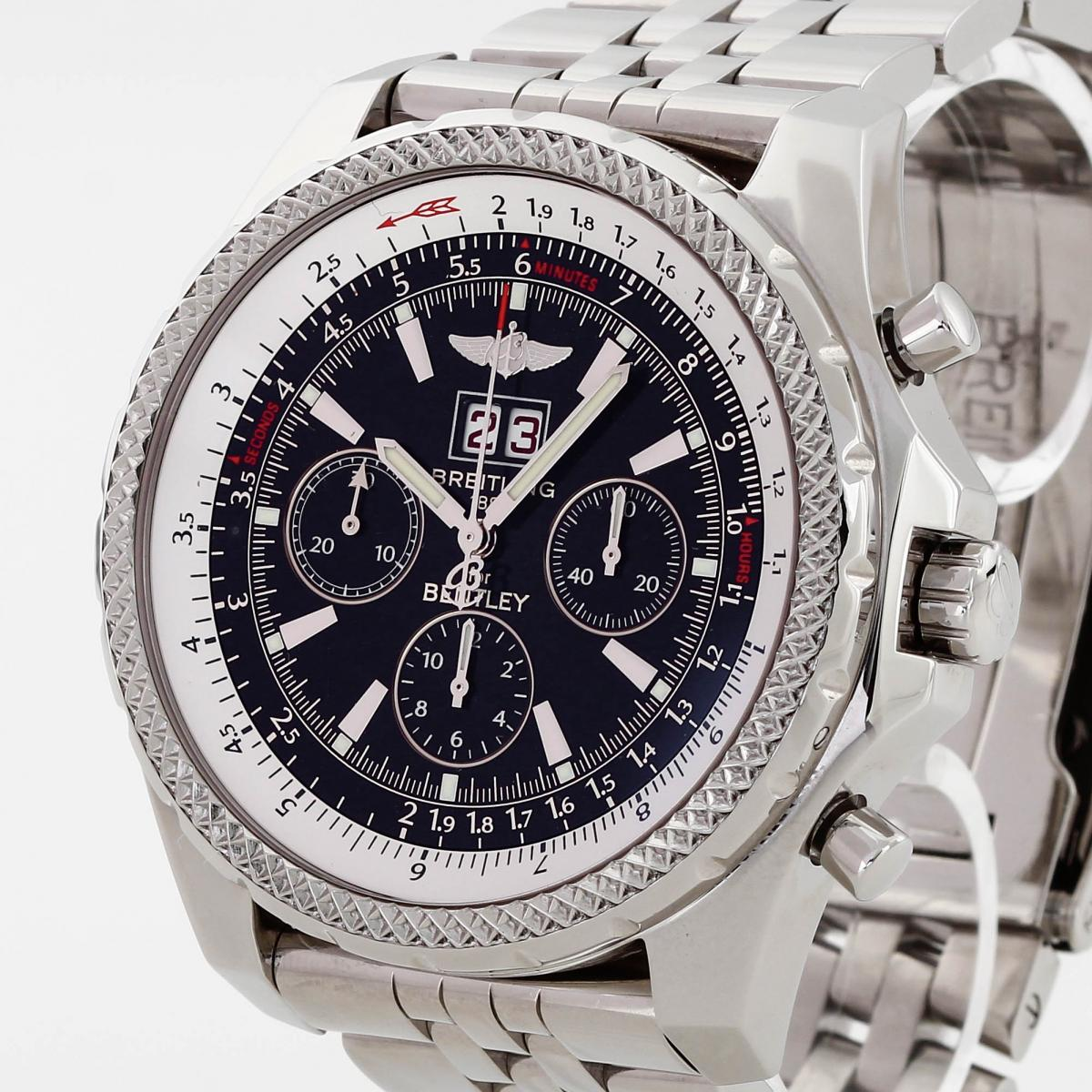 Breitling For Bentley >> Breitling Bentley 6 75 Chronograph Stainless Steel Ref A44362