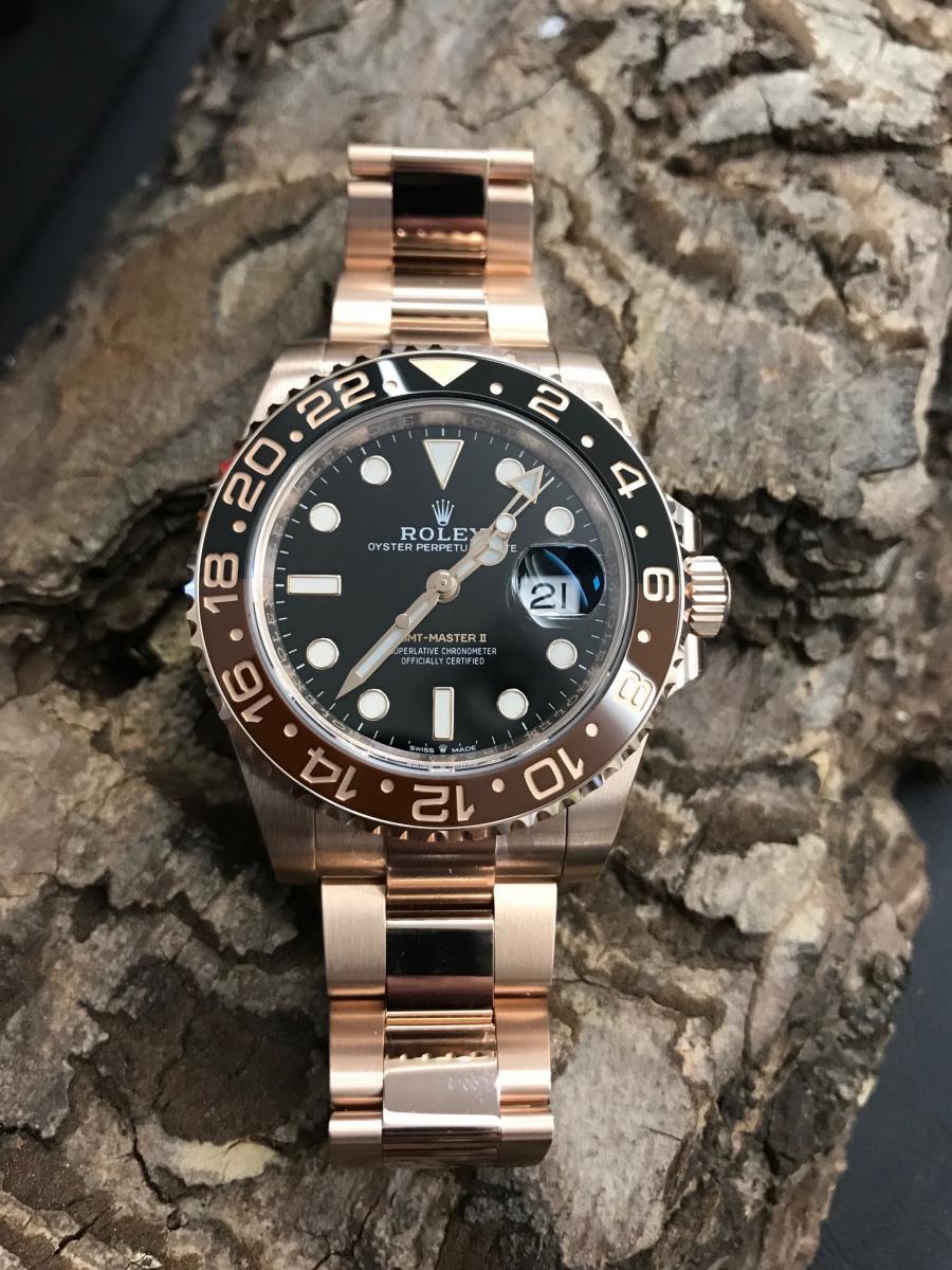 04ad46618 unworn Rolex GMT-Master II Everrose-gold for sale
