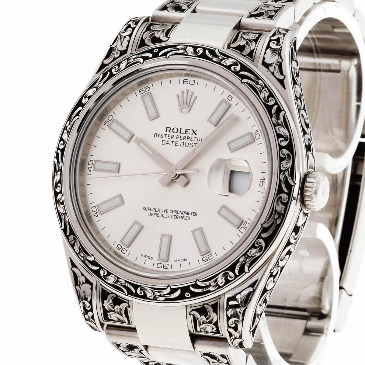 Rolex Datejust 41mm Handgraviert Ref. 116300