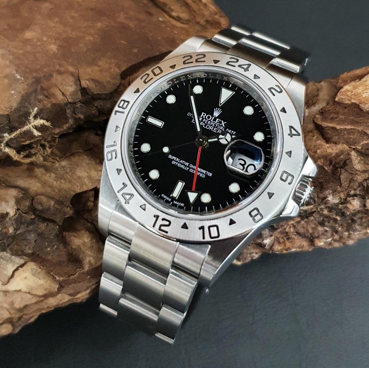 Rolex Explorer II FULL SET V-SERIE 2010 REHAUT SERVICE Ref. 16570