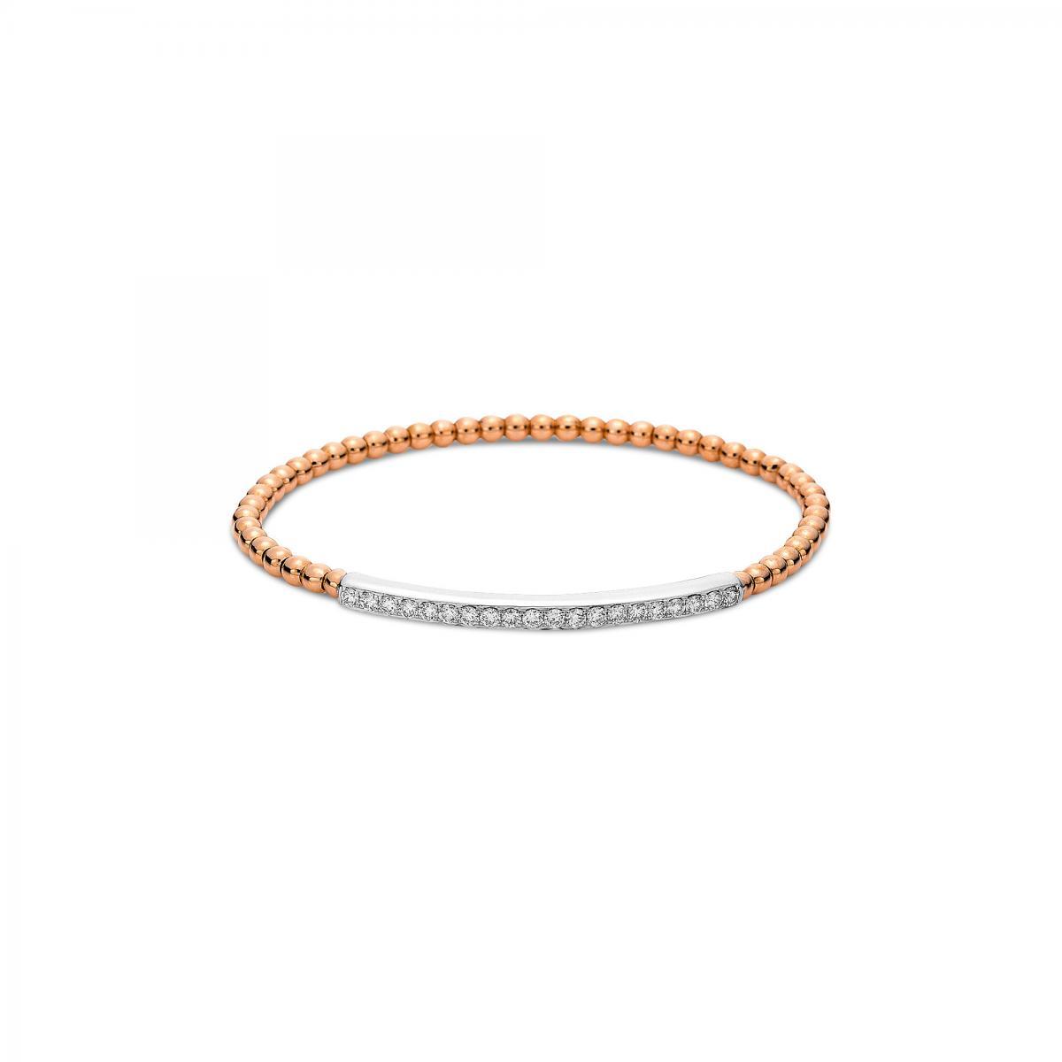 Armband 18 kt Rot-/Weißgold mit 20 Brillanten 0,61 ct