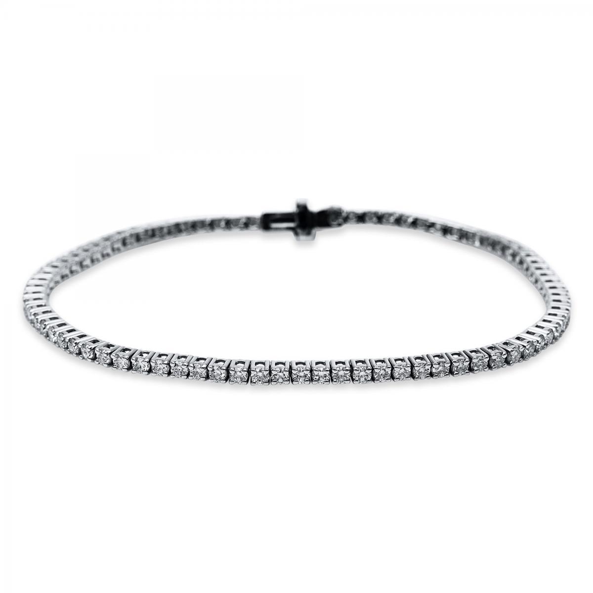 Armband 18 kt Weißgold mit 79 Brillanten 2,50 ct