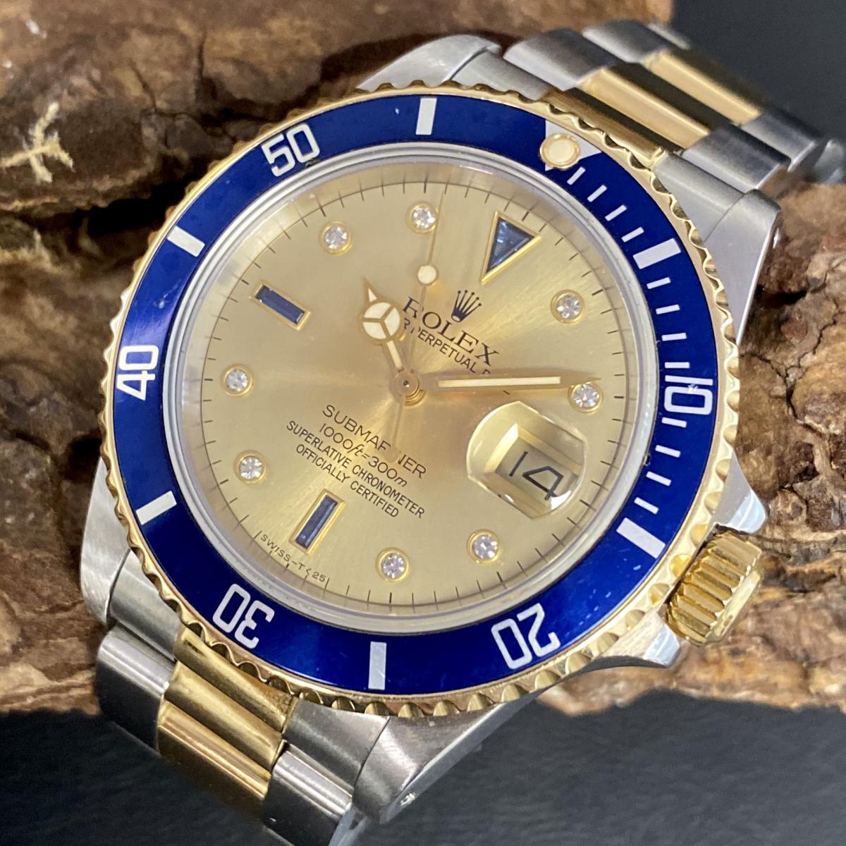 Rolex Submariner Date Sultan / Serti Fullset Ref. 16803